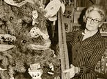 Decorating our in-store Christmas tree in the mid-20th century