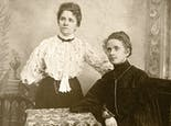 A late 19th-century portrait of two female Busch family members